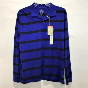 St. Johns Bay Black & Blue Legacy Polo L